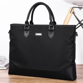 POLO 公文包休闲轻便手提包商务大容量横款手提包ZY042P553J 黑色