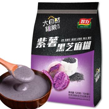 智力 营养早餐 紫薯黑芝麻糊 智力燕麦片旗下品牌 独立小包装 520g(40g*13小袋)