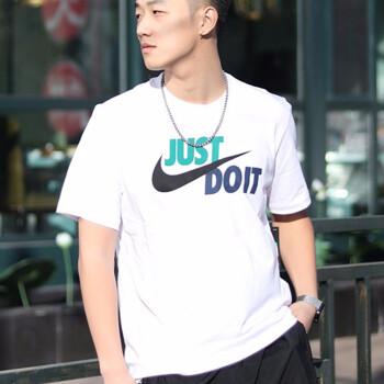 NIKE耐克短袖T恤男装2020春季新款运动休闲针织透气跑步训练圆领上衣AR5007-102 夏季新款白色AR5007-102 S