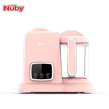 美国努比(nuby)婴儿辅食机 蒸煮搅拌一体机 宝宝营养食物料理机 家用多功能迷你电动研磨器调理机 樱花粉