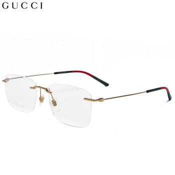 古驰(GUCCI)眼镜框男 镜架 透明镜片金色镜框GG0399O 002 56mm