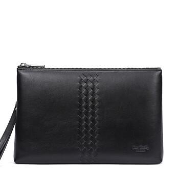 皮尔卡丹(pierrecardin)手包男个性设计手拿包大容量信封包时尚休闲手抓包J7A409-540001A黑色
