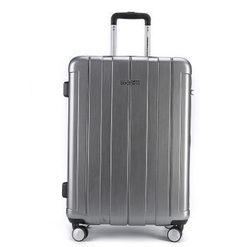 美旅拉杆箱 24英寸万向轮静音行李箱男商务出差女旅行箱 TSA密码锁BJ9银色