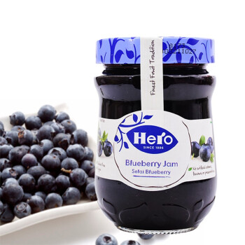 西班牙进口 hero英雄蓝莓果酱340g 涂抹面包配酸奶 blueberry jam