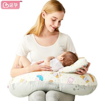 乐孕喂奶枕头哺乳枕护腰枕头夏季新生儿垫抱娃坐月子婴儿喂奶枕头孕妇喂奶枕孕妇枕 精灵美兔粉(背带款)