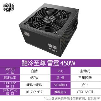 酷冷至尊雷霆电脑电源400/450/500/550/600/650/700/750静音电源 450W
