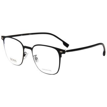 HUGO BOSS 雨果博斯 男款黑色镜框黑色镜腿光学眼镜架眼镜框 1027/F 003 51MM
