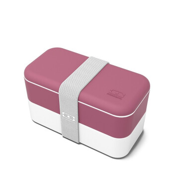 法国monbento饭盒便当盒微波炉保温加热分隔型上班族日式健身减脂双层餐盒 【新品上市】双层便当盒 - 玫瑰豆沙