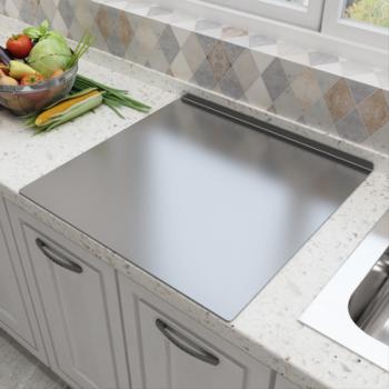 304不锈钢面板厨房案板菜板烘焙粘板不粘擀面和面板揉面板 40*60平板厚度1.5
