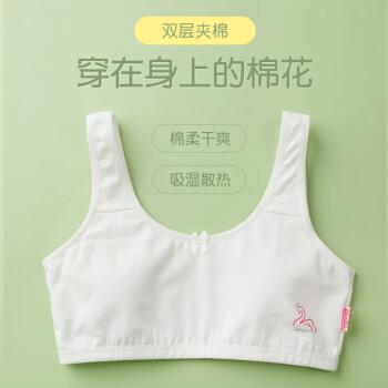 芭比2件少女内衣发育期9-10-12岁中小学生小背心薄款女童大童文胸青春期13-15中学初中女孩胸罩 ABY3001 80A