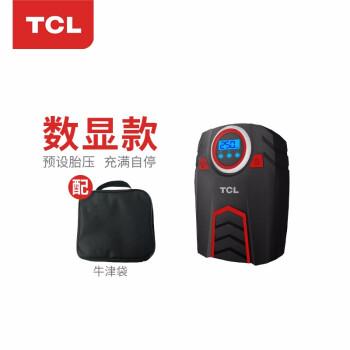 TCL充气泵 车载 汽车打气泵 电动安全电流 轿车SUV便携加气 胎压检测 夜间LED照明+智能数显预设+可测胎压+牛津收纳袋 充气泵