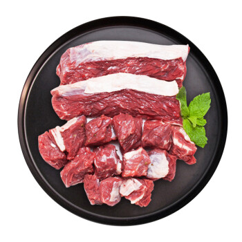 皓月 巴西牛腩塊1kg/袋 原切草飼牛腩 生鮮牛肉