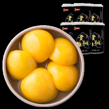 林家铺子 新鲜糖水黄桃罐头425g*6罐/箱