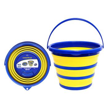 固特异(Goodyear)车用折叠水桶大容量便携软硅胶钓鱼桶户外储水桶加厚洗车桶 折叠水桶