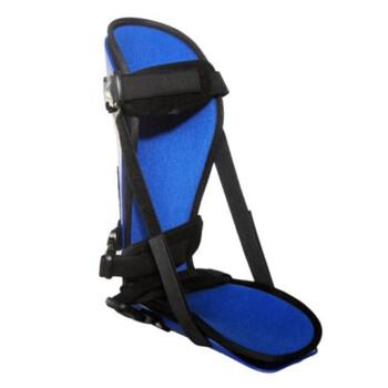 颖健 足下垂脚踝矫形器足托 矫正鞋 足内外翻脚腕足踝固定支具 灰色透气 无支架款(单只装) M码(适合38-42码)