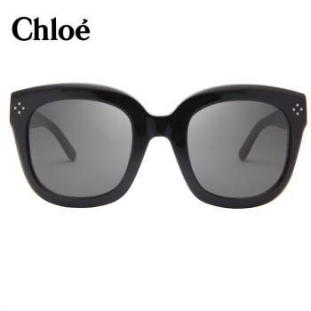 蔻依 Chloe意大利克洛伊太阳镜女款经典板材方框大脸墨镜CE701SK 001 60mm