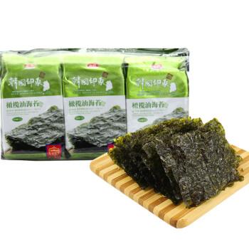 纯喜 即食紫菜烤海苔 橄榄油海苔 韩国印象休闲零食4.5g*9包