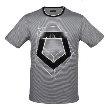 Z ZEGNA 杰尼亚 奢侈品 男士黑白格拼色棉质圆领短袖T桖衫 VI325 ZZ711 626 黑白格拼色 S