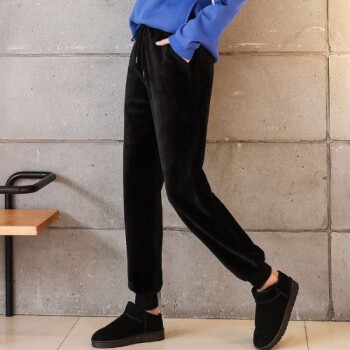 风哈伦裤休闲裤不加绒/巨厚羊毛羔丝绒运动裤卫裤