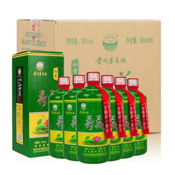 【贵州茅台镇】酱香型杜酱荷花酒 500ml*6瓶