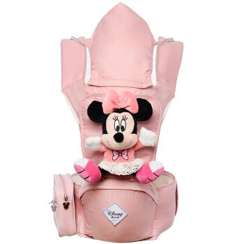 迪士尼(Disney)妈咪腰凳 四季款多功能双肩婴儿背带宝宝腰凳D05小孩单凳抱带米妮粉117