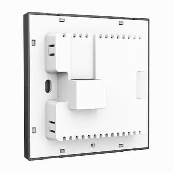 普联(TP-LINK)无线AP面板家用 智能组网 千兆双频全屋WIFI覆盖墙壁式POEAC路由器套装 TL-AP1202GI-PoE 薄款碳素黑(方)