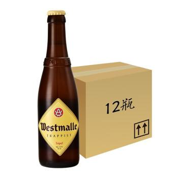【嘉思特旗舰店】比利时精酿西麦尔修道院啤酒原装进口手工精酿双料三料啤酒 西麦尔三料啤酒330ml*12瓶