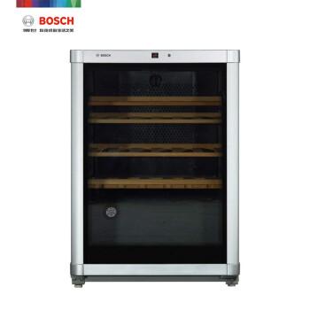 博世(BOSCH) 135升 独立式酒柜 精准控温控湿 低噪减震(银色)KTW18V80TI