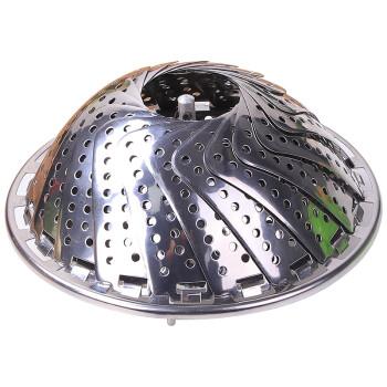 盛世泰堡 不锈钢蒸笼屉 家用蒸笼架可伸缩折叠拆卸蒸格蒸馒头蒸架多功能蒸屉隔水蒸盘TB-LY-90