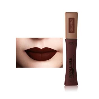 欧莱雅(LOREAL)恒放溢彩雾感唇釉  856黑巧夫人 巧克力小姐限量版口红6.3ml