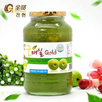 全贤 蜂蜜青梅茶1kg韩国原装进口冲饮果酱泡水喝柚子饮品奶茶原料