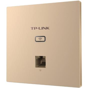 普联(TP-LINK) 86型无线面板式AP 无线wifi面板 嵌入墙壁式POE供电 AC管理 TL-AP1202GI-PoE 薄款香槟金(方)