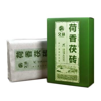 久扬安化黑茶2015年荷香茯砖茶400克湖南正宗高山金花黑茶