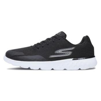 斯凯奇(Skechers)轻便跑步舒适减震休闲鞋55299-BKW 黑色/白色 42.5