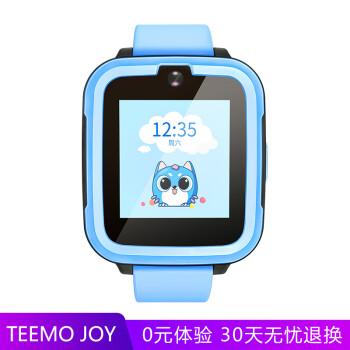 搜狗糖猫(teemo)儿童智能电话手表Joy 4G畅速版 蓝色 高清通话拍照GPS定位防丢防水学生手机 男孩