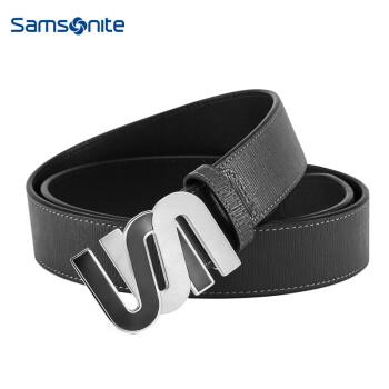 Samsonite/新秀丽皮带男士休闲商务皮带腰带针扣皮带 深灰色BW5 110CM