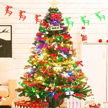 佳妍 圣诞树套餐装饰品家用场景布置摆件豪华加密圣诞树1.5米圣诞礼物送彩灯商场小型场景布置道具套装