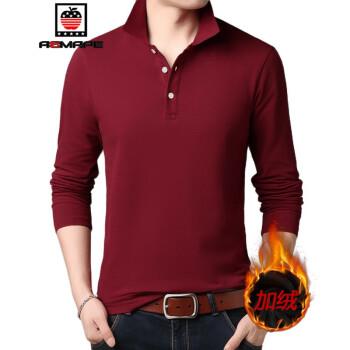 AEMAPE秋冬季加绒男士长袖T恤