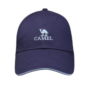 骆驼户外棒球帽 男女防风透气郊游遮阳鸭舌帽 宝蓝-1 A8S3M2109 均码