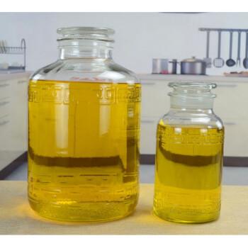 储油罐大容量 家用厨房玻璃油壶装油瓶大号花生油桶食用油 新款50斤(直径31高50)送勺