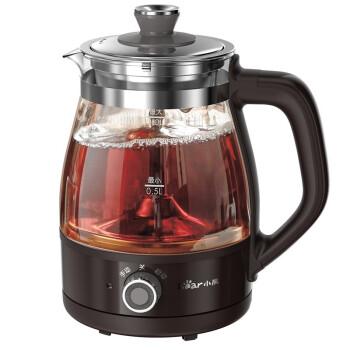 小熊(Bear)煮茶器养生壶蒸汽喷淋式 玻璃加厚黑茶煮茶壶办公室蒸茶器电热烧水壶ZCQ-A10X1 蒸汽喷淋自动模式