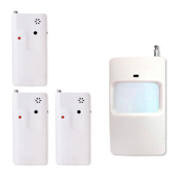 创胜 微型防老板防查岗提醒器小型便携无线感应器 人体红外探测感应无声报警器 防贼防盗震动响铃蜂鸣器 1个红外探测器+3个震动蜂鸣器(JSQ-2)
