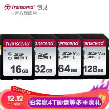 创见(Transcend) 高速存储卡 佳能索尼尼康单反微单相机内存卡 高速连拍 4K视频拍摄 经济型SD卡 UHS-I 95M/S 16GB