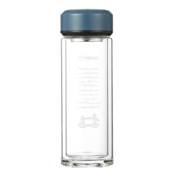 TOMIC 特美刻 双层透明水晶杯 爵士蓝 350ML