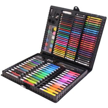 铭塔(MING TA)150件套装绘画工具盒 文具画板写字板玩具儿童画笔木制 可水洗水彩笔蜡笔美术铅笔