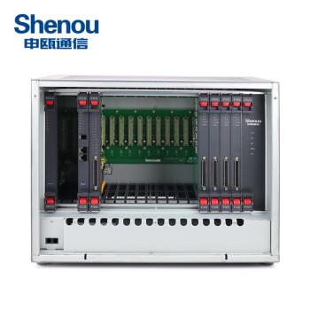 【申瓯Shenou】SOT600KII数字程控电话交换机8外线进16-208出分机集团电话酒店总机 8外线112内线