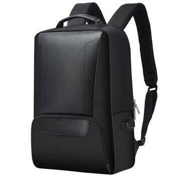 博牌Bopai双肩包男商务背包大容量15.6英寸电脑包休闲帆布旅行包黑色751-007101