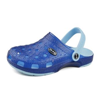 回力新款男鞋 轻质防滑耐磨洞洞鞋凉拖鞋沙滩鞋花园鞋 048 058深蓝色 40