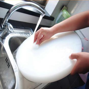 彩色圆形PE塑料10加厚切菜砧板案板 塑胶菜墩肉墩砍骨墩 宽45×厚10cm