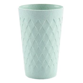 居居家 小麦秸秆刷牙杯漱口杯喝水杯子 家用情侣牙刷杯洗漱杯牙缸 北欧绿单只
